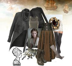 """Post Apocalyptic Steampunk"" by kate-daniels ❤ liked on Polyvore I would so totally wear this! @Roxanne Reber"