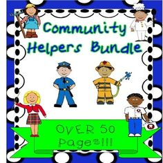 This is a ELA bundle on Community helpers. It has a step-by-step lesson plan. There are many literacy activities that use all modalities. The kids love to make our finger puppets and have a puppet show. Our lively MP3 song about community helpers is included.$ #community helpers #ELA #education #TPT #teacherspayteachers #puppets #books #social studies #teaching #MP3 songs 49 1  17