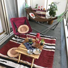 Small Balcony Garden, Terrace Garden, Camping Style, Go Camping, Interior Balcony, Indoor Picnic, Decor Styles, Living Spaces, House Design