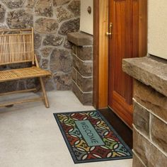Mohawk Home Clementine Shades Welcome Doormat, Blue