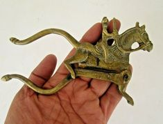 Women Old Brass Handcrafted Peacock Shape Engraved Betel Nut Cutter Suitable For Men And Children