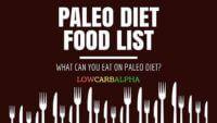 Paleo Diet Food List – Paleolithic Nutrition Plan