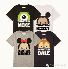 bora bora hut: chocoolate x disney tsum tsum Disney Vans, Disney Shirts, Disney Outfits, Disney Pixar, Disney Characters, Tsum Tsum Shirt, Tsum Tsum Party, Disney Tsum Tsum, Disney Theme