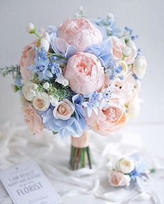 Hottest 7 Spring Wedding Flowers to Rock Your Big Day Hottest 7 Spring Wedding Flowers to Rock Your Big Day---elegant lilac hydrangea and blush peonies wedding bouquet, soft wedding flowers, spring wedding ideas, summer weddings,<br> Wedding Flower Guide, Peony Bouquet Wedding, Spring Wedding Flowers, Wedding Flower Arrangements, Bridal Flowers, Wedding Ideas, Blue Hydrangea Bouquet, Trendy Wedding, Spring Wedding Decorations
