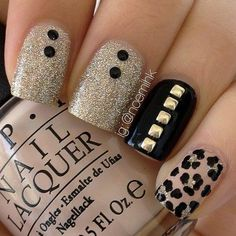 In search for some nail designs and ideas for your nails? Here is our list of 19 must-try coffin acrylic nails for trendy women. Cheetah Nail Designs, Cheetah Nails, Gold Nails, Nail Art Designs, Sparkly Nails, Black Nails, Glitter Nails, Nails Design, Silver Glitter