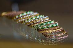 Bride's green bangles