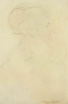 Gustav Klimt - Study for 'The Bride' Gustav Klimt, Klimt Art, Life Drawing, Painting & Drawing, Pencil Drawings, Art Drawings, Vintage Artwork, Character Design Inspiration, Bowie