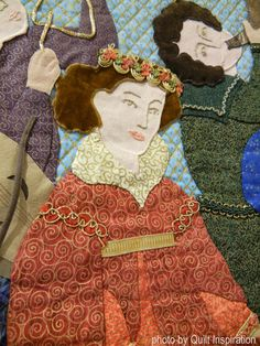 Serenade art quilt by Carol Goddu.  SAQA People and Portraits exhibit.  Photo - detail by Quilt Inspiration.