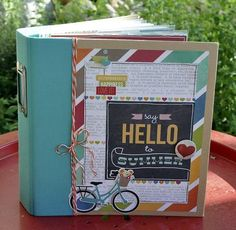 Creative Album Summer memories - Ideas and handheld digital scrapbook making… Scrapbook Cover, Project Life Scrapbook, Scrapbook Journal, Mini Scrapbook Albums, Scrapbook Sketches, Scrapbook Paper Crafts, Diy Scrapbook, Mini Albums, Mini Album Scrap