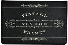 Vintage Titling Vector Frames Set 2