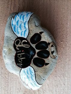 This piece with created in loving memory of a beloved pet female Lab named Libby. All stones are custom made to include pets name and any other