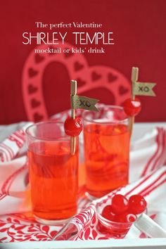 I so loved these as a child! Make some Shirley Temples this Valentine's Day! A great reason to buy maraschino cherries