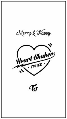 "Twice wallpaper ""heart shaker"" Blackpink Twice, Logo Twice, Twice Lyrics, Taemin, Twice Group, Nct, Twice Korean, Twice Fanart, Ran Paul"