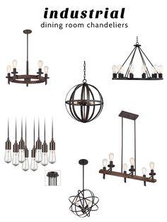 Industrial Dining Room Chandeliers from @lampsplus