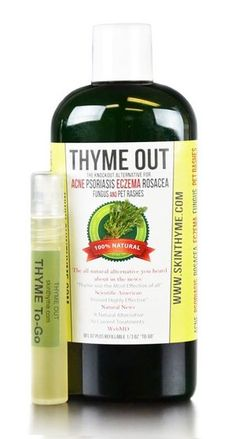 Thyme Out The Knockout Alternative For Eczema Psoriasis Acne Dermatitis Rosacea Cold Sores Pet Rashes Bug Bites Fungus Poison Ivy Any Skin Inflammation 1 + To Go Bottle. Take a look at this wonderful item. (This is an affiliate link). Eczema Psoriasis, Rosacea, Plaque Psoriasis, Fungal Infection, How To Treat Acne, Facial Skin Care, Fungi, Essential Oils, Tips
