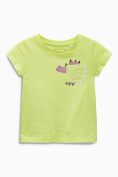 Buy Green/Pink/Grey Bright Dino T-Shirts Three Pack (3mths-6yrs) online today at Next: United States of America