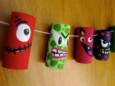 MONSTRUOS con rollos de cartón | #Artividades