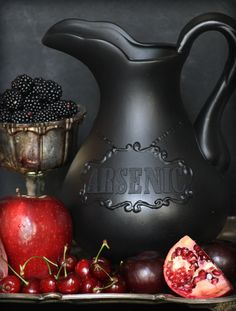 Poisoning Your Guests in Style..... DIY Arsenic Drink Pitcher | Goth It Yourself | How to use Dimensional Paint Writer | Gothic Blog Post | www.MeandAnnabelLee.com - Blog for all things Dark, Gothic, Victorian, & Unusual
