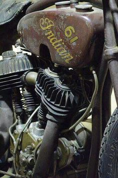Old Indian Motorcycle...