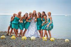 #teal #bridesmaid dresses