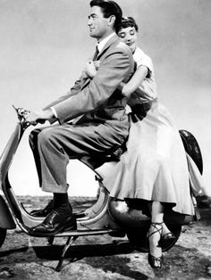 Sometimes I dream riding with Gregory Peck on a Vespa in Rome