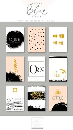 Custom blog, site + logo design by littlebluedeerdesign.com