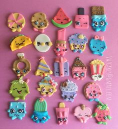Shopkins inspired cupcake toppers by Vazcakes on Etsy
