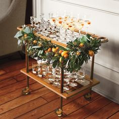 Must do for Thanksgiving and Christmas.  Just leave the cart floating so that guests can grab.  Can make it less formal for summer months.  Signature cocktails.