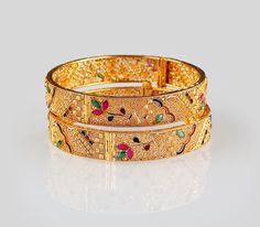 e54ca323670 Calcutta Set Bangle Bangle Set, Gold Bangles, Cuff Bracelets, India Jewelry,  Jewellery