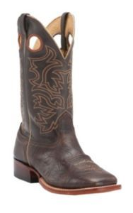 Cavender's Men's Chocolate Twisted Bull Hide Double Welt Square Toe Western Boots | Cavender's