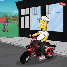 11.3K vind-ik-leuks, 65 reacties - Olga Wójcik | graphic designer (@machonis) op Instagram: ' ____________________ #TheSimpsons #Simpsons #BartSimpson #supreme #supremenyc #supremebike…'