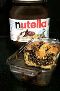 11.11.14 AMAZING AND YUMMY AND WOULD TASTE FINE WITHOUT NUTELLA TOO.....Gooey Nutella Banana Bread