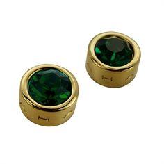 T Tahari Essentials Signature Emerald Stud Earrings