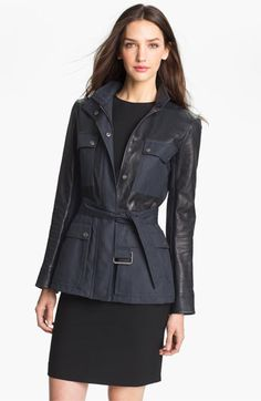Theory 'Macaire L.' Leather Jacket available at #Nordstrom $795 pre-order.