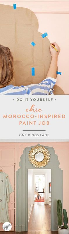 Spruce Up a Blah Doorway with a Chic, Morocco-Inspired Paint Job!