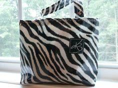 Car Trash Bag  Zebra by DesignHerStyles on Etsy, $19.00