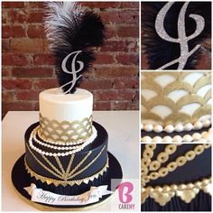Could put 17 in the feather Great Gatsby Party, Gatsby Themed Party, 1920s Party, Gatsby Wedding, Themed Birthday Cakes, 50th Party, 40th Birthday Parties, Themed Cakes, 22 Birthday