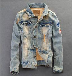 Willstyle Men's Retro Style Denim Jacket