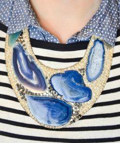 DIY Fashion: Agate statement necklace