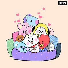 Can't get any cozier than this 🥰 Bts Chibi, Bts Kawaii, Photowall Ideas, Bts Pictures, Photos, Bts Backgrounds, Album Bts, Bts Drawings, Cute Cartoon Wallpapers