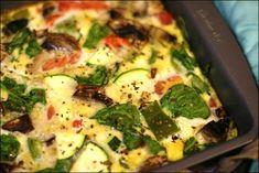 Smoked salmon and veggie egg casserole