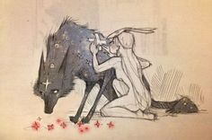Chiara Bautista wolf and girl