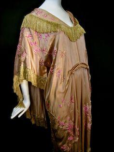Edwardian B Altman Co Japanese Silk Fringe Kimono Robe Dressing Gown 1918 | eBay