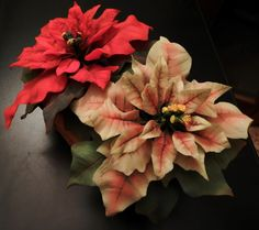 Poinsettia Red and Rose- Cold Porcelain