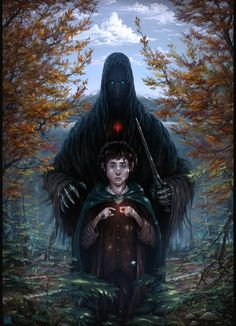"""Frodo's Choiceby ThornSpine """" I didn't want to copy Frodo and the Nazgul from…"""