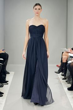 Photo: Monique Lhuillier's dreamy navy bridesmaids from fall runway 2013 @Nycole Downing Downing Downing Gregory