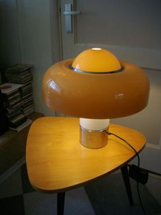 """Brumbury"" table lamp by Luigi Massoni for Guzzini. Designed in 1972"