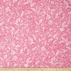 Santee Print Works Vintage Tapestry Floral Pink from @fabricdotcom From Santee Print Works, this cotton print fabric features a floral design and is perfect for quilting, apparel, and home decor accents. Colors include shades of pink and white.