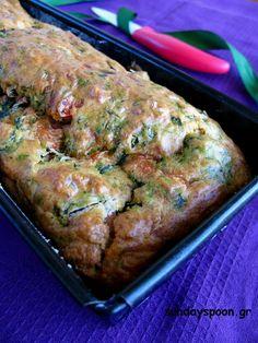 Αλμυρό κέικ με σπανάκι και καπνιστό ζαμπόν • sundayspoon