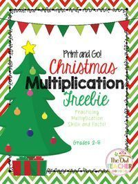 Add some festivity and holiday cheer to your classroom with this multiplication freebie! The worksheets included in this download all have a fun holiday theme, right down to the questions asked! Your students will have a ball getting in some extra practice around this special time of year!